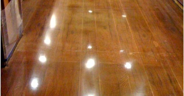 A Wood Floor Made Of Concrete Stains Basement Ideas And