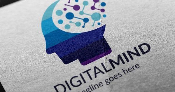 Digital Mind Logo – brain connection