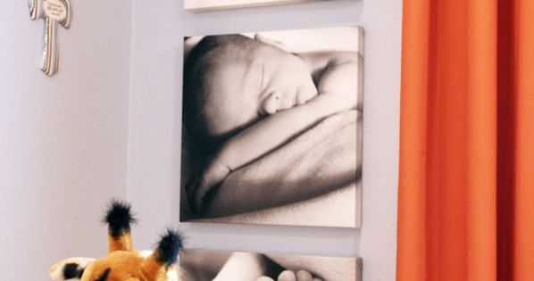 Canvas prints of newborn pics