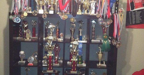 Trophy display..shelf from ikea | kids | Pinterest ...