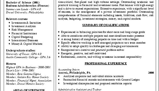 Financial Analyst Resume Example Offices, Resume and Resume examples