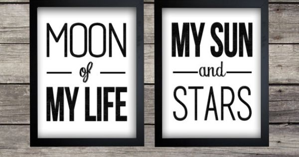Moon And Stars Quotes: Moon Of My Life .. My Sun And
