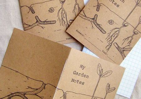 Free printable garden notebooks for the kids by the ever