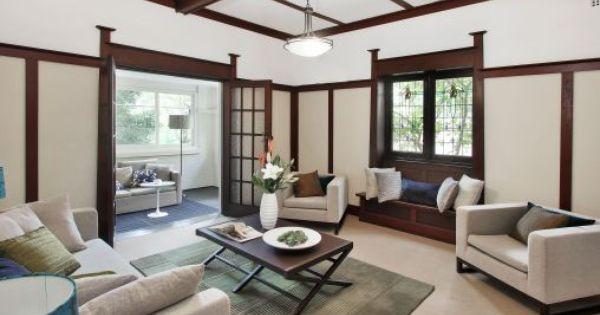 Californian Bungalow Interior Paint Colors That Go With Wood Pinterest Bungalow Interiors