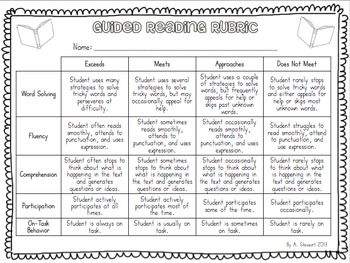 FREE} Guided Reading Assessment Rubric | ☆Word Work ...