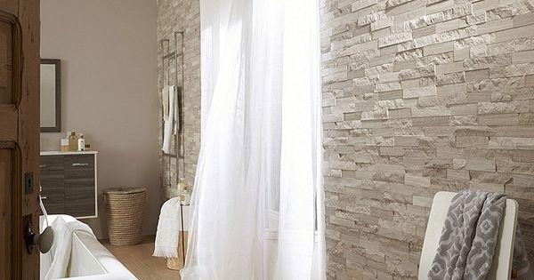 Plaquette de parement pierre naturelle Cottage gris / beige prix promo ...