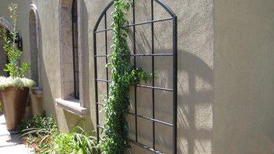 Wrought Iron Wall Trellis: ARBORS Trellises Pergolas