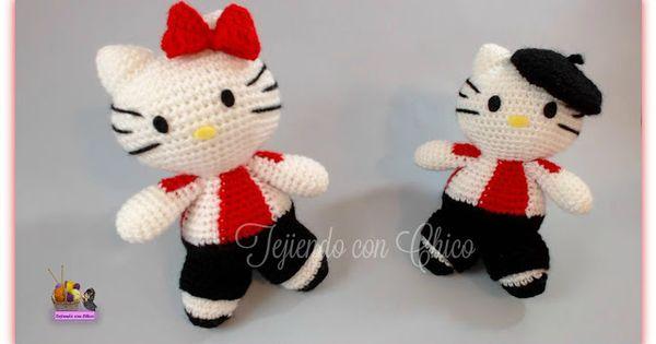 Hello Kitty Kimono Amigurumi Patron : Kitty futbolista. Patron gratis de Tejiendo con Chico ...