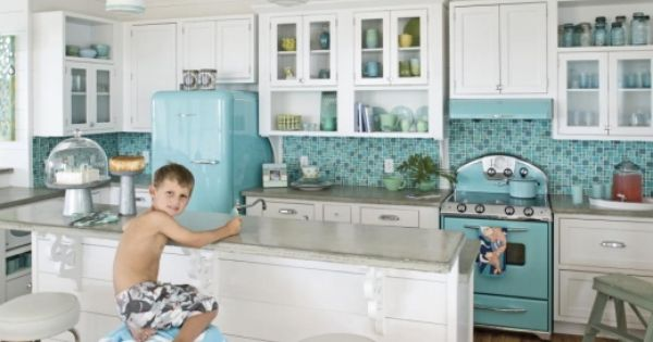 Teal Kitchen Kitchen White And Retro Kitchens On Pinterest