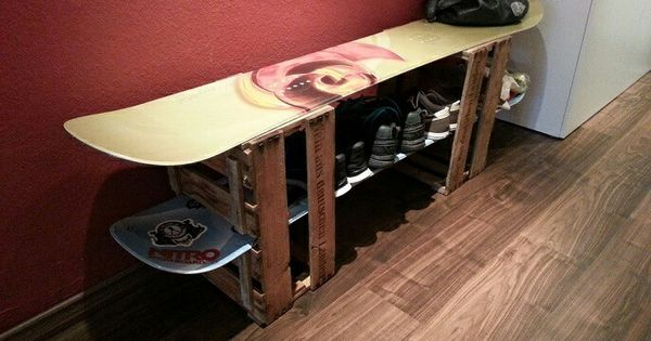 regal weinkiste snowboard. Black Bedroom Furniture Sets. Home Design Ideas