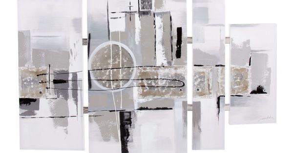 Ensemble De Peinture Sur Toile Argent Crumble Toiles