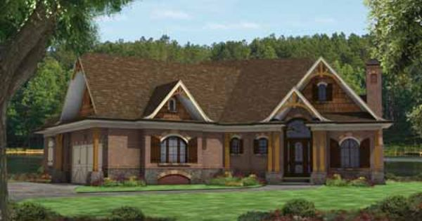 Hillside Homes Designed To Maximize A Sloping Lot These Plans Offer Walkout Basements O With Images Craftsman Style House Plans Mountain House Plans Cottage House Plans