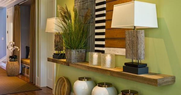 love this idea for decor while maximizing space in entry way