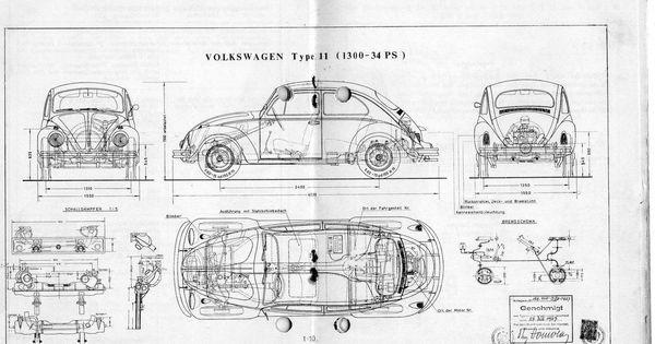vw beetle blueprint
