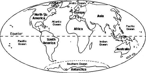 Map Of The World To Color Free Printable 13 World Coloring Pages