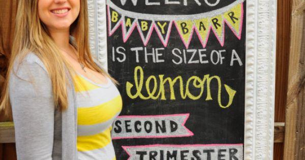14 weeks pregnant chalkboard pregnancy tracker! maybebaby