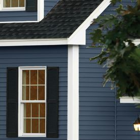 Shop Georgia Pacific Compass Vinyl Siding Panel Double 4 Traditional Bayou Blue 8 In X 150 In At Lowes Com Vinyl Siding House Exterior Blue Blue Vinyl Siding