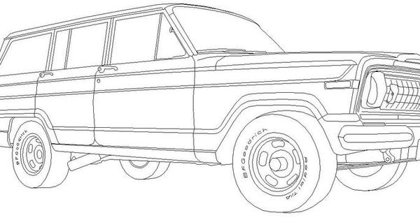 classic  wagoneer for the jeep coloring book