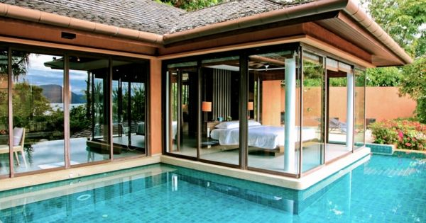 101 bilder von pool im garten infinity pool garten schlafzimmer offen glas wand architektur. Black Bedroom Furniture Sets. Home Design Ideas