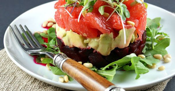 Authentic Suburban Gourmet: Roasted Beet, Avocado and Grapefruit Salad (recipe)