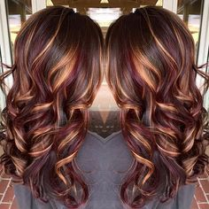 Pin By Anita Overstreet On Hair Colors Long Brunette Hair Hair Styles Hair Color Burgundy