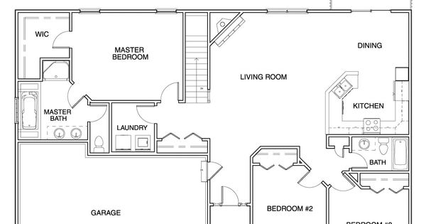 Hubbell Homes Floor Plans: Floor Plans For Ranch Homes For $130000
