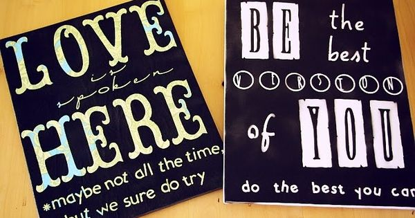 Cut it out!! ......canvas tutorial Create your own signs. Supplies: Canvas (found