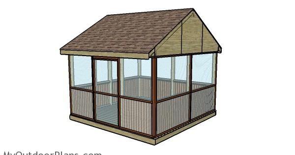 Screened gazebo plans myoutdoorplans free woodworking for Simple gazebo plans