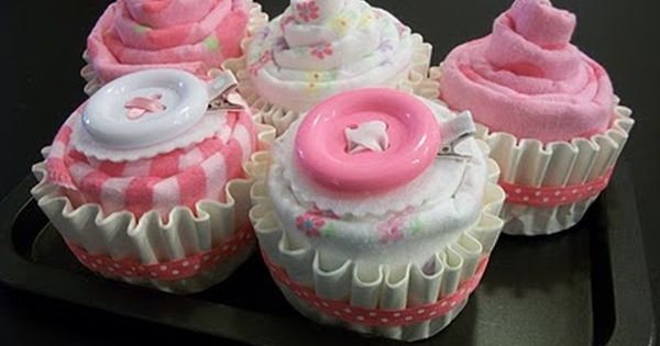 cupcakes? similar to diaper cake, great shower idea