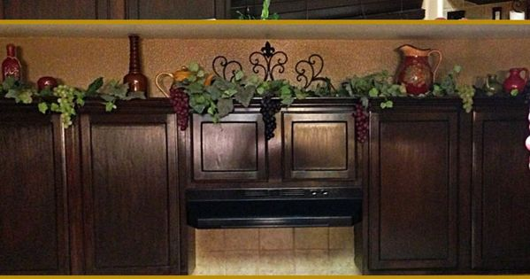Grapes And Vines Kitchen Decor Decor On Top On Kitchen