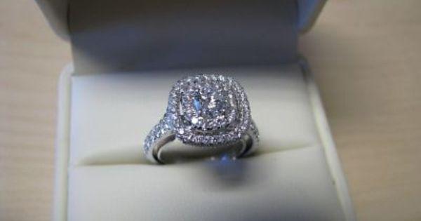 Jared Neil Lane 14k White Gold Diamond Engagement Ring 14k White Gold Diamond Engagement Ring Lane Engagement Rings Wedding Ring Box