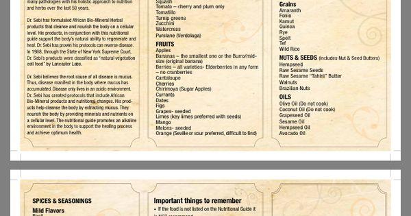 Dr Sebi Nutritional Guide | Electric Alkaline Vegan Diet ...