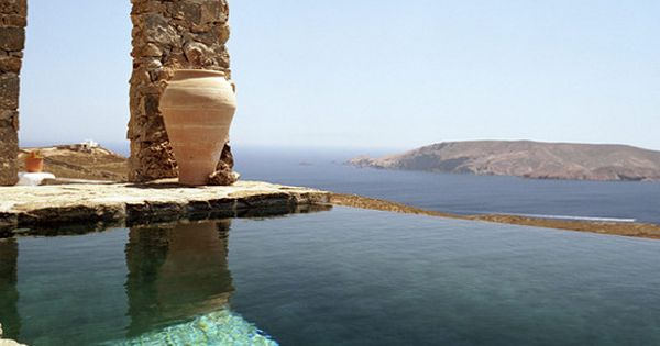 This gorgeous place is the Villa Drakothea on the Greek Island of