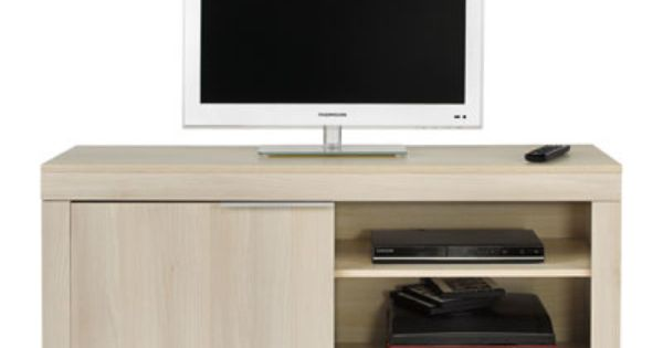 Meuble tv rubis acacia meuble tv hifi vid o for Meuble chaine hifi conforama
