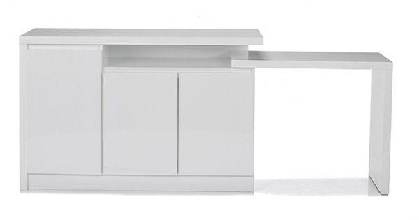 Buffet modulable alinea petit espace pinterest for Buffet table integree