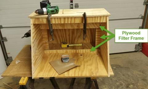 Diy Hobby Spray Booth Spray Booth Woodworking Cedar Woodworking Projects