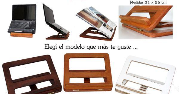 Atril de madera porta notebook netbook ipad tablet y libros atril ipad y madera - Muebles atril ...