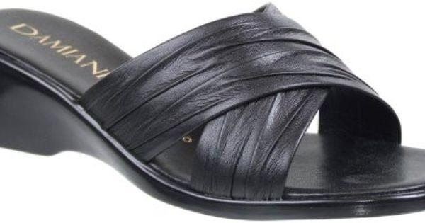 Damiani S By Italian Shoemakers 168 Black Wedge Slip On