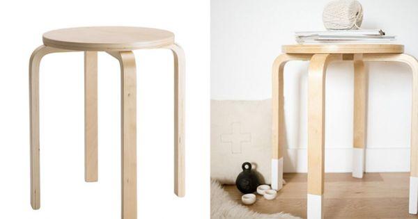 customiser le tabouret frosta d 39 ikea tabouret ikea customisation et tabouret. Black Bedroom Furniture Sets. Home Design Ideas