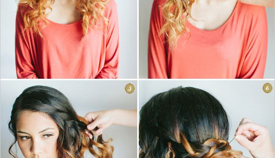 How to do Curly Side Waterfall Braid