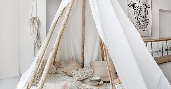 Behang Kinderkamer Goedkoop : Interieur DIY Wigwam in de kinderkamer ...