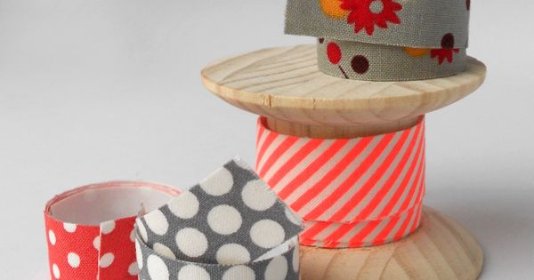 DIY Fabric Tape - from the Red Thread sweet gift wrapping idea