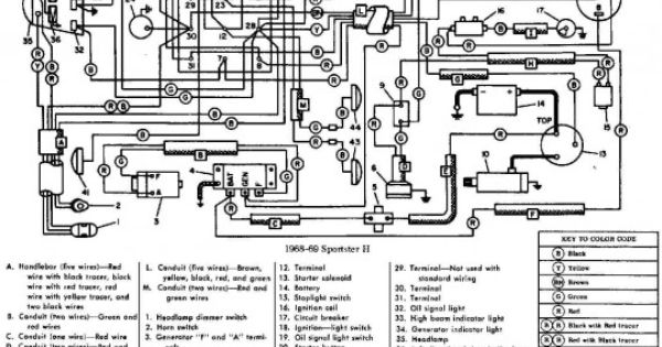 electrical wiring schematic of 1968