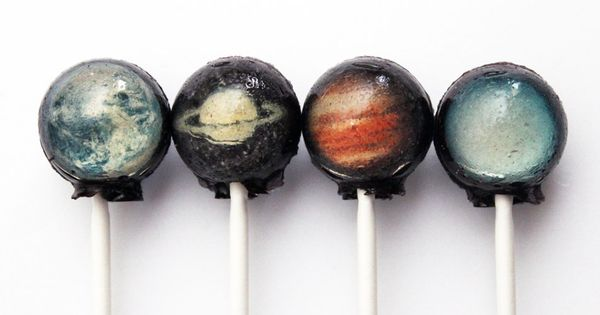 Solar system lollipops.