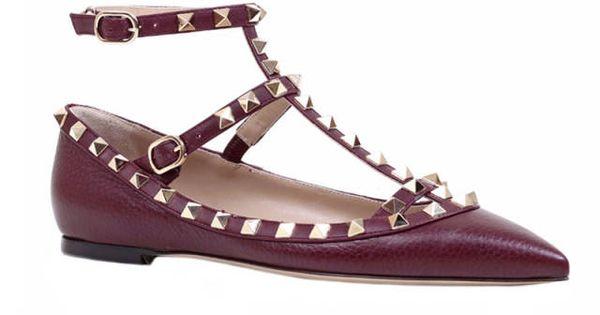 rockstud flat #comfy #shoes #flats #Valentino | See more about Valentino Rockstud, Valentino and Comfy Shoes.