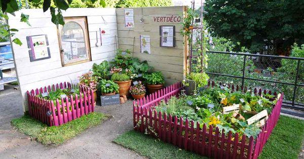 potager en carr ou en pots pour petits espaces jardin pinterest espaces minuscules. Black Bedroom Furniture Sets. Home Design Ideas