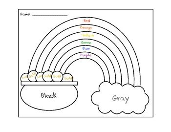 St Patrick S Day Rainbow Coloring Sheet St Patrick Day Activities St Patricks Day Crafts For Kids St Patrick S Day Crafts