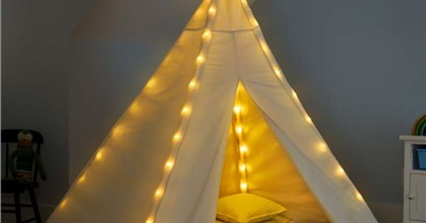 Cotton Canvas Teepee With Lights whimsical nook Pinterest Sensory rooms, Cotton canvas and ...
