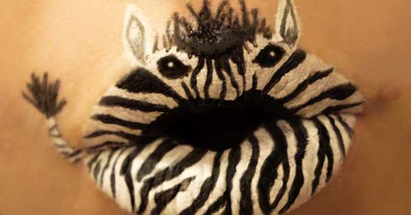 zebra lips What kind of kisses are these?