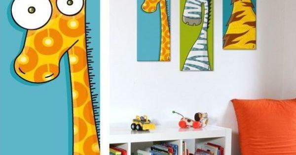 tableau animal original pour chambre b b et enfant tableau girafe tableau toile pinterest. Black Bedroom Furniture Sets. Home Design Ideas
